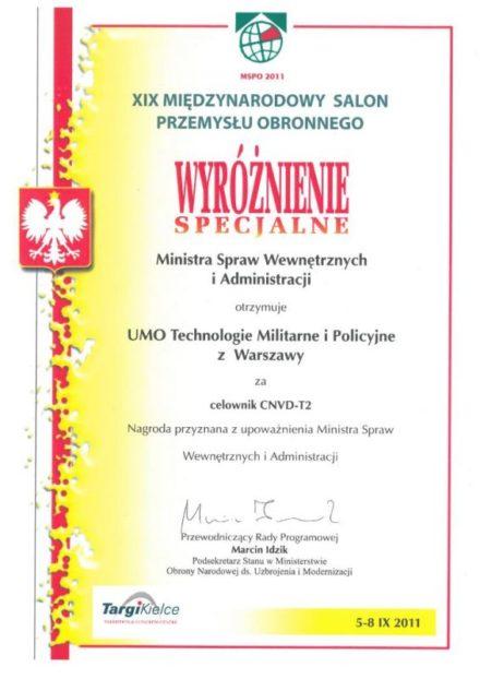 MSWiA prize